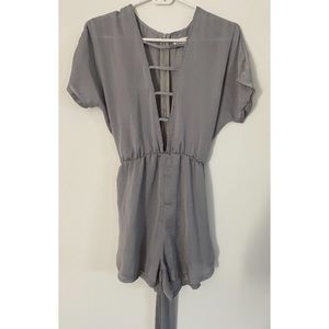 Young Bohemian silver romper size 6 NWOT